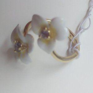 Kate Spade New White Flower Ring
